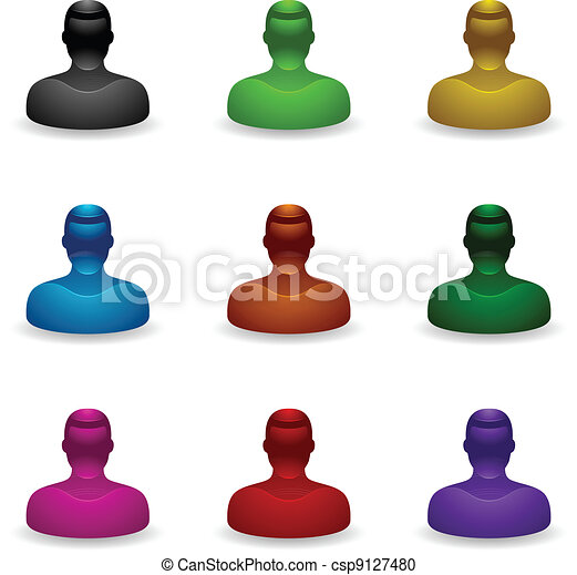 iconen, mensen, onbekend, -, gebruiker - csp9127480