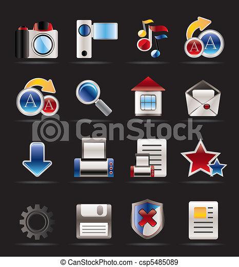 iconen, website, internet - csp5485089