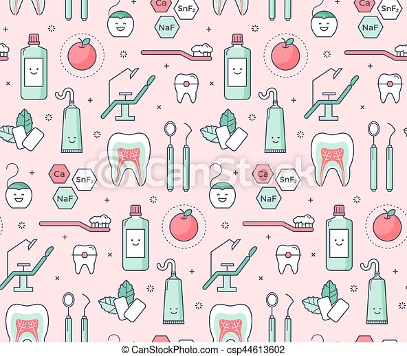 iconic seamless pattern about dentistry vector scientific beer can clip art border beer can clipart png