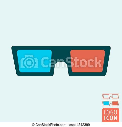 unos dias buscar auténtico linda icono, anteojos de 3d