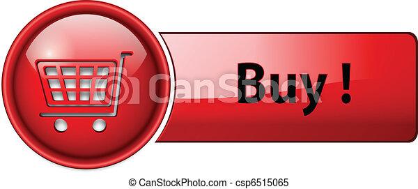 Compra icono, botón - csp6515065