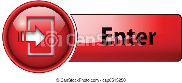 Entra icono, botón - csp6515250