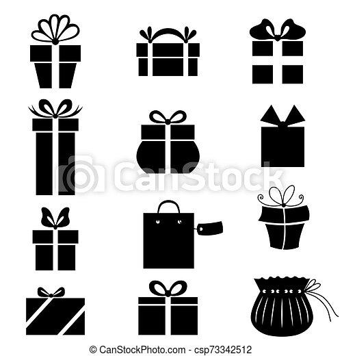 Gift icono set - csp73342512
