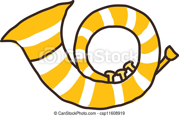 Cuerno de icono - csp11608919