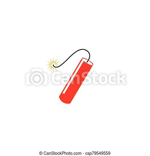 icono de la bomba, dinamita, tiempo - csp79549559