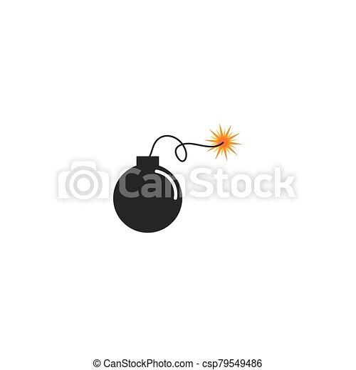 icono de la bomba, dinamita, tiempo - csp79549486