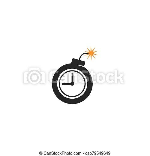 icono de la bomba, dinamita, tiempo - csp79549649