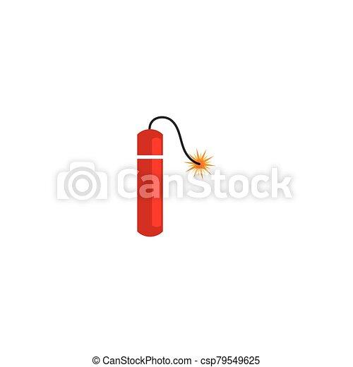 icono de la bomba, dinamita, tiempo - csp79549625