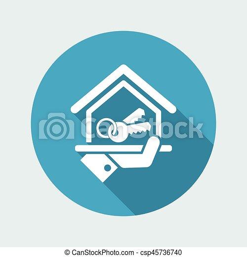 icono de la casa - csp45736740