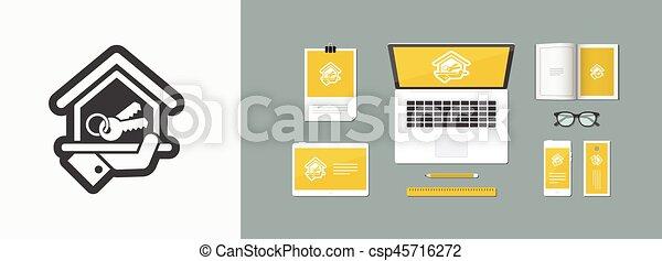 icono de la casa - csp45716272