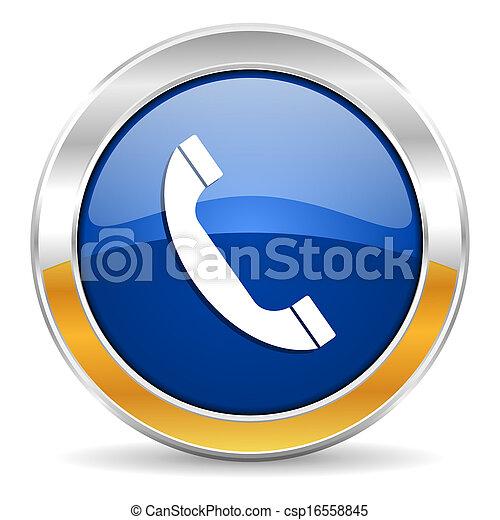 Un icono telefónico - csp16558845