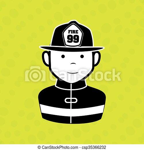 Diseño de iconos de emergencia - csp35366232