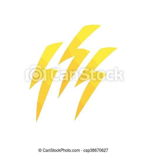 Un icono relámpago, estilo de dibujos animados - csp38670627