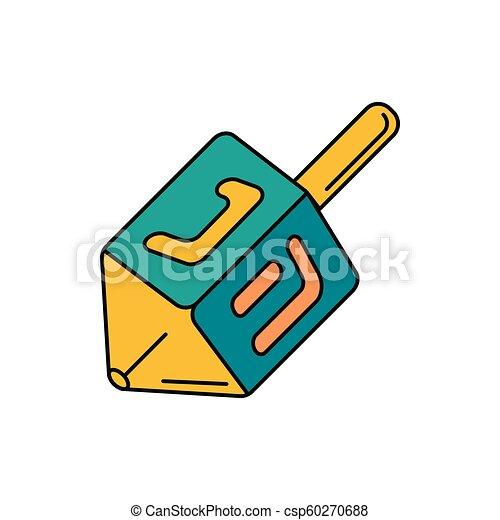 Icono Dreidel, estilo de dibujos animados - csp60270688