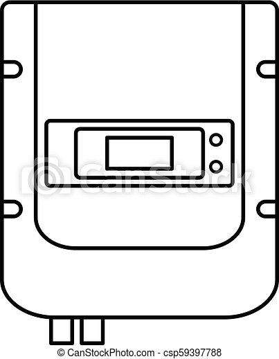 Eléctrico contra ícono, estilo esbozo - csp59397788