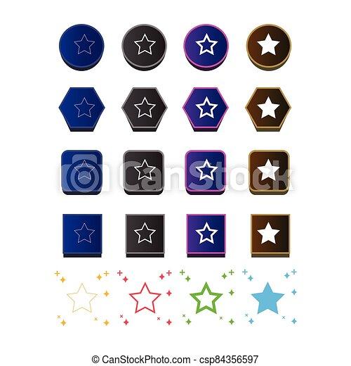 icono, estrella - csp84356597