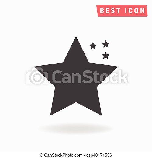 icono estrella, icono estrella EPS - csp40171556