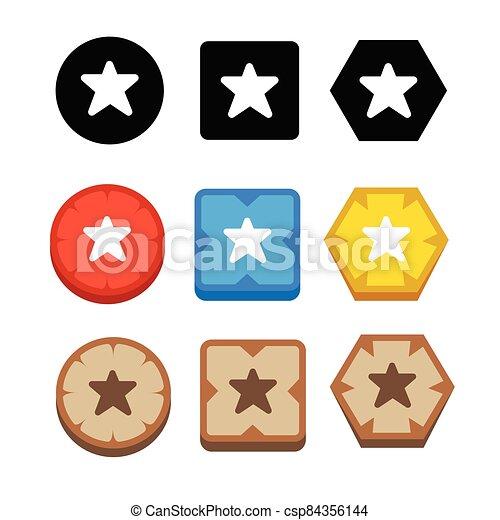 icono, estrella - csp84356144