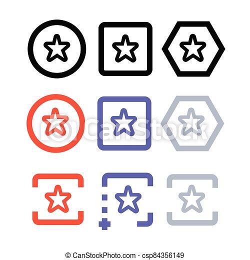 icono, estrella - csp84356149