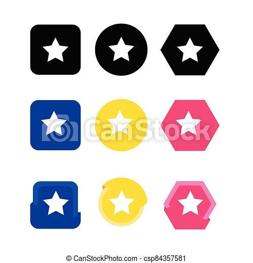 icono, estrella - csp84357581