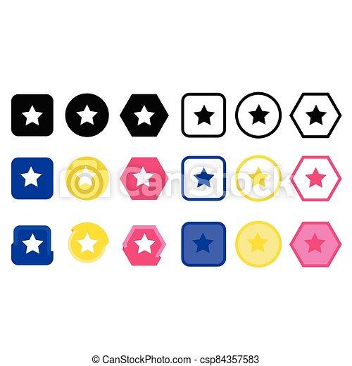 icono, estrella - csp84357583
