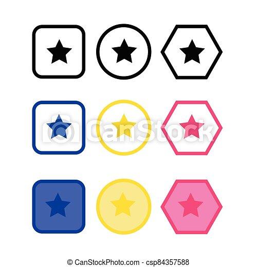 icono, estrella - csp84357588