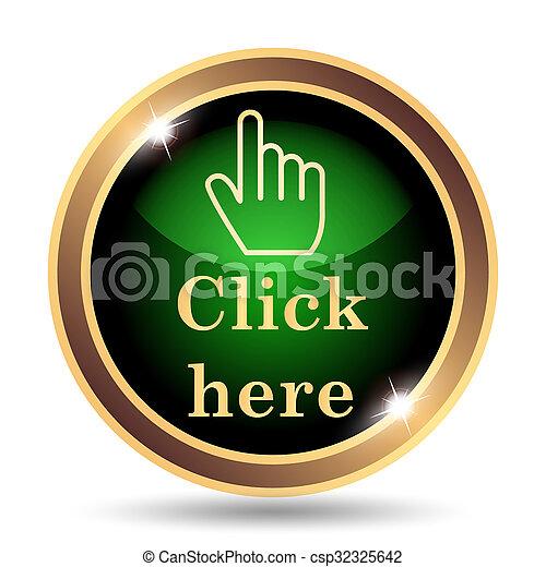 Click aquí icono - csp32325642