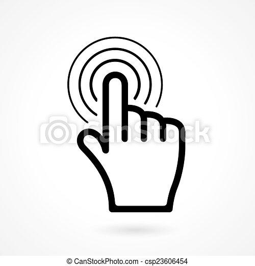 Pulso manual o icono puntero - csp23606454