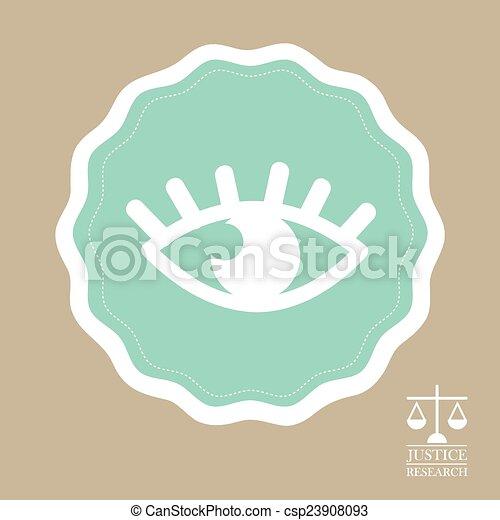 El icono de la justicia - csp23908093
