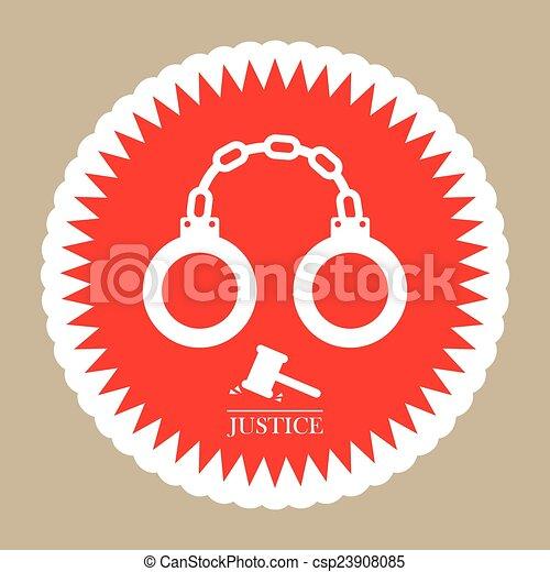 El icono de la justicia - csp23908085