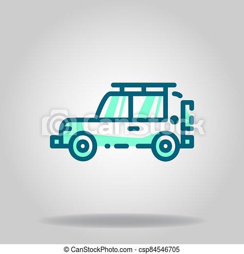 icono, logotipo, twotone, aventura, o, coche - csp84546705