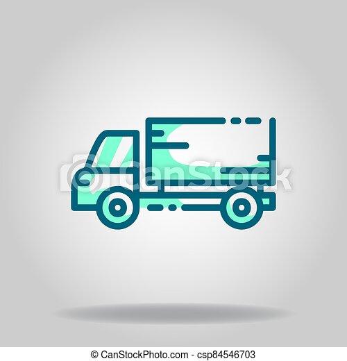 icono, logotipo, twotone, caja, o, coche - csp84546703