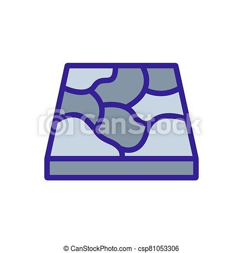 icono, mármol, diseño, contorno, vector, piso, ilustración - csp81053306