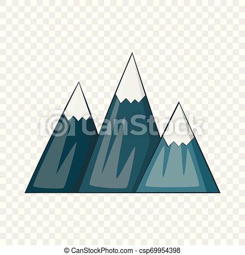 icono de montaña, estilo de dibujos animados - csp69954398