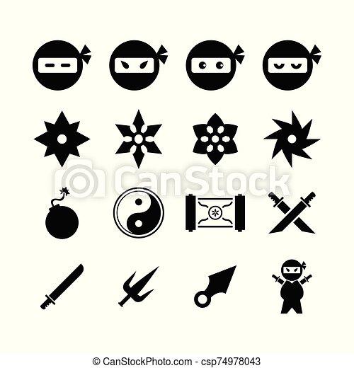 icono, ninja - csp74978043