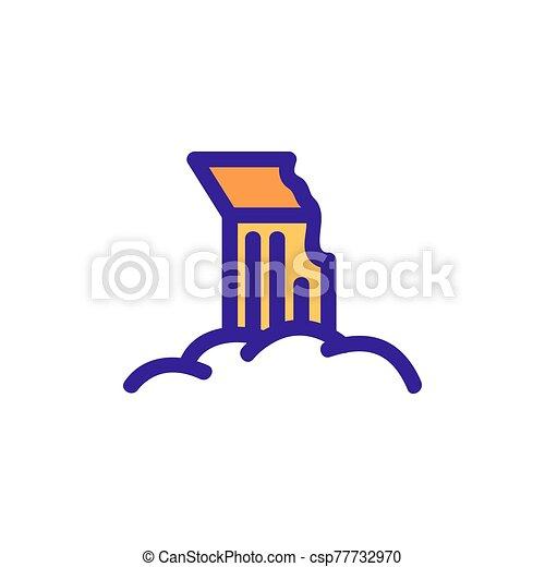 icono, restos, contorno, ilustración, columna, símbolo, aislado, vector. - csp77732970