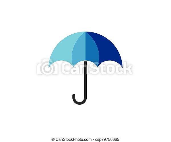 icono, símbolo, paraguas, vector - csp79750665