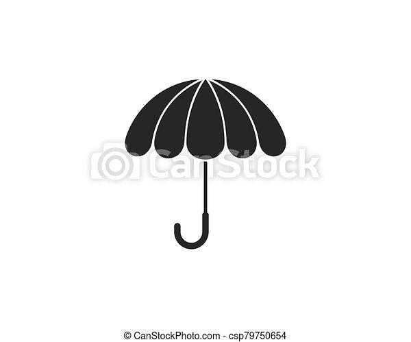 icono, símbolo, paraguas, vector - csp79750654