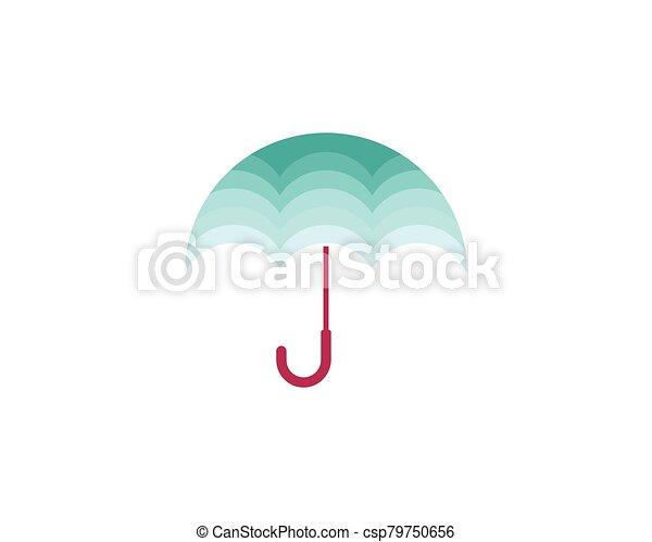 icono, símbolo, paraguas, vector - csp79750656