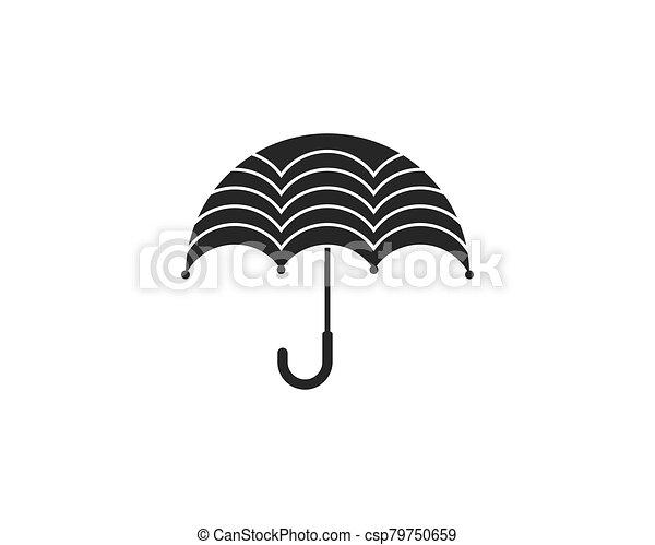 icono, símbolo, paraguas, vector - csp79750659