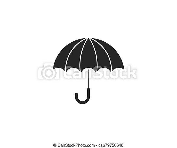 icono, símbolo, paraguas, vector - csp79750648