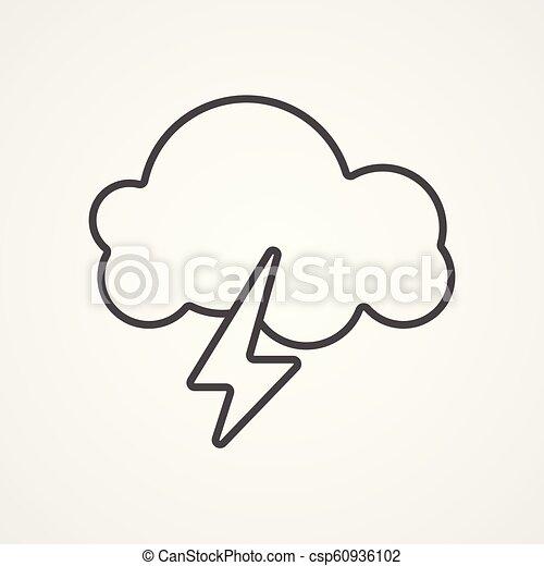 Señal de icono vector de tormenta - csp60936102