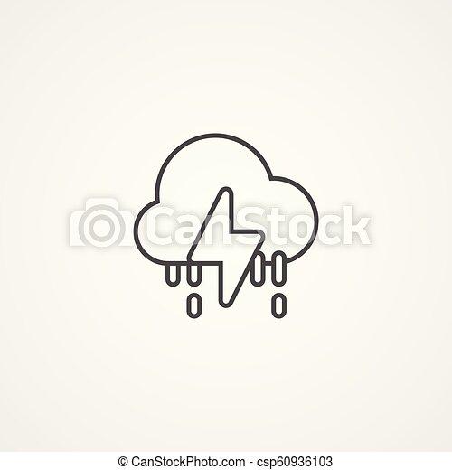 Señal de icono vector de tormenta - csp60936103