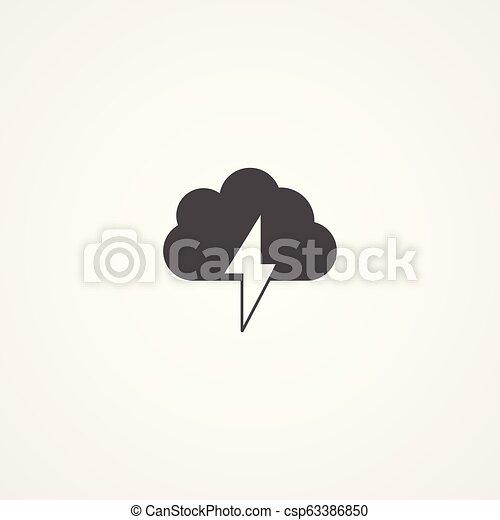 Señal de icono vector de tormenta - csp63386850