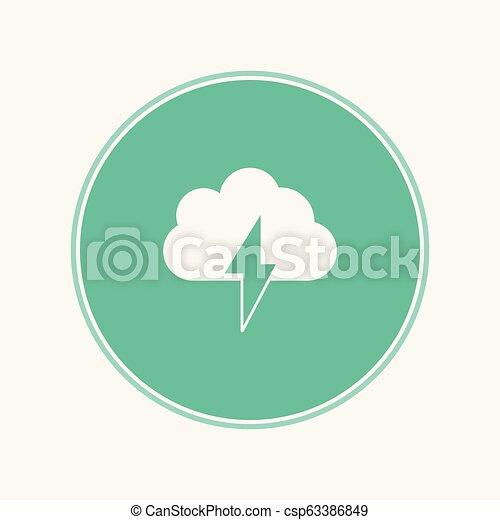 Señal de icono vector de tormenta - csp63386849