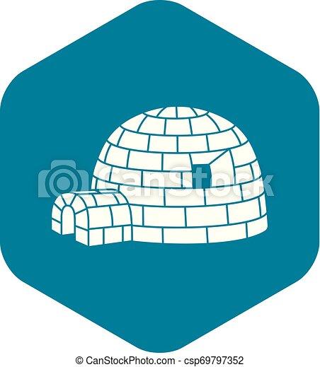 Esquimal iglú, estilo simple - csp69797352