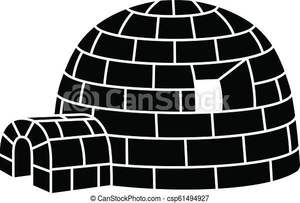 Esquimal iglú, estilo simple - csp61494927