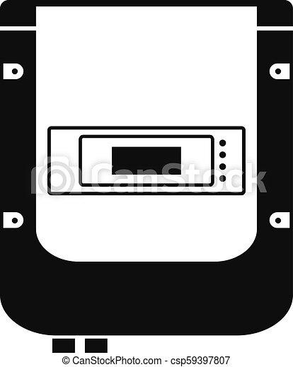 Un icono eléctrico, estilo simple - csp59397807