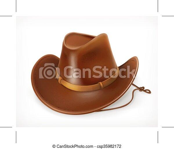 icono de sombrero de vaquero - csp35982172