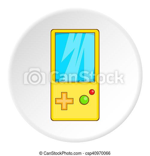 Icono Tetris Estilo Juegos Caricatura Juego Simbolo Estilo